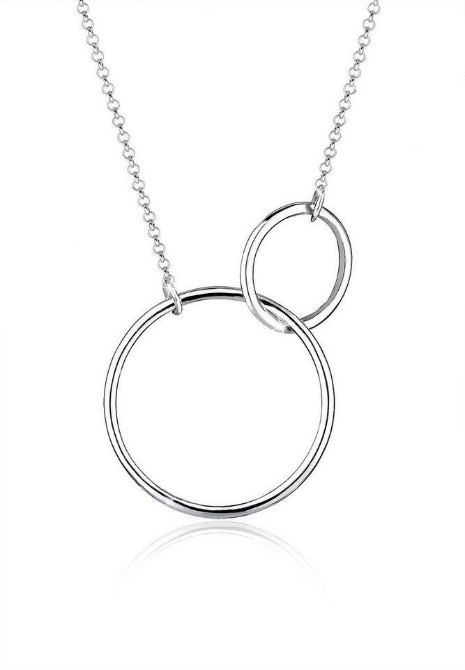 Elli Halskette »Kreis Circle Rund 925 Sterling Silber« in Silber