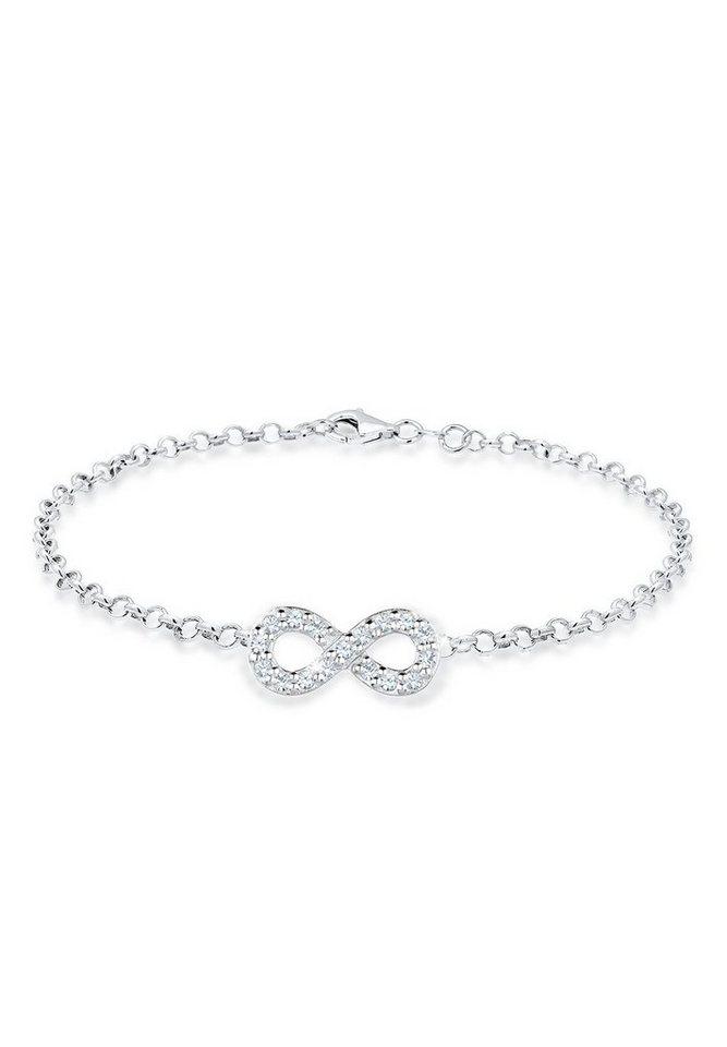 Elli Armband »Infinity Swarovski Kristalle 925 Sterling Silber« in Silber
