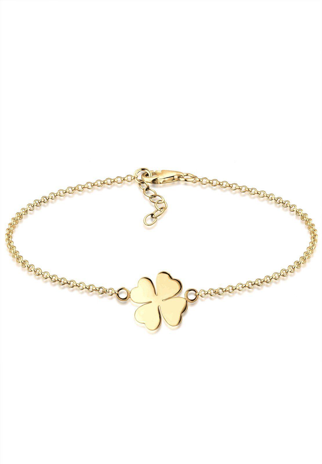 Goldhimmel Armband »Kleeblatt 925 Sterling Silber vergoldet«
