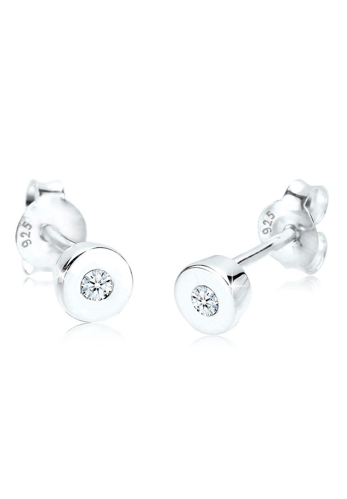 Diamore Ohrringe »Basic Klassiker Diamant 0.06 ct. 925 Silber«