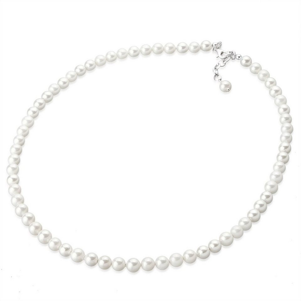 Elli Halskette »Muschelkernperlen 925 Sterling Silber« in Weiß