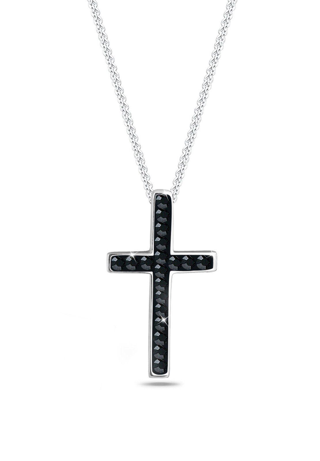 Elli Halskette »Kreuz Swarovski® Kristalle 925 Sterling Silber«