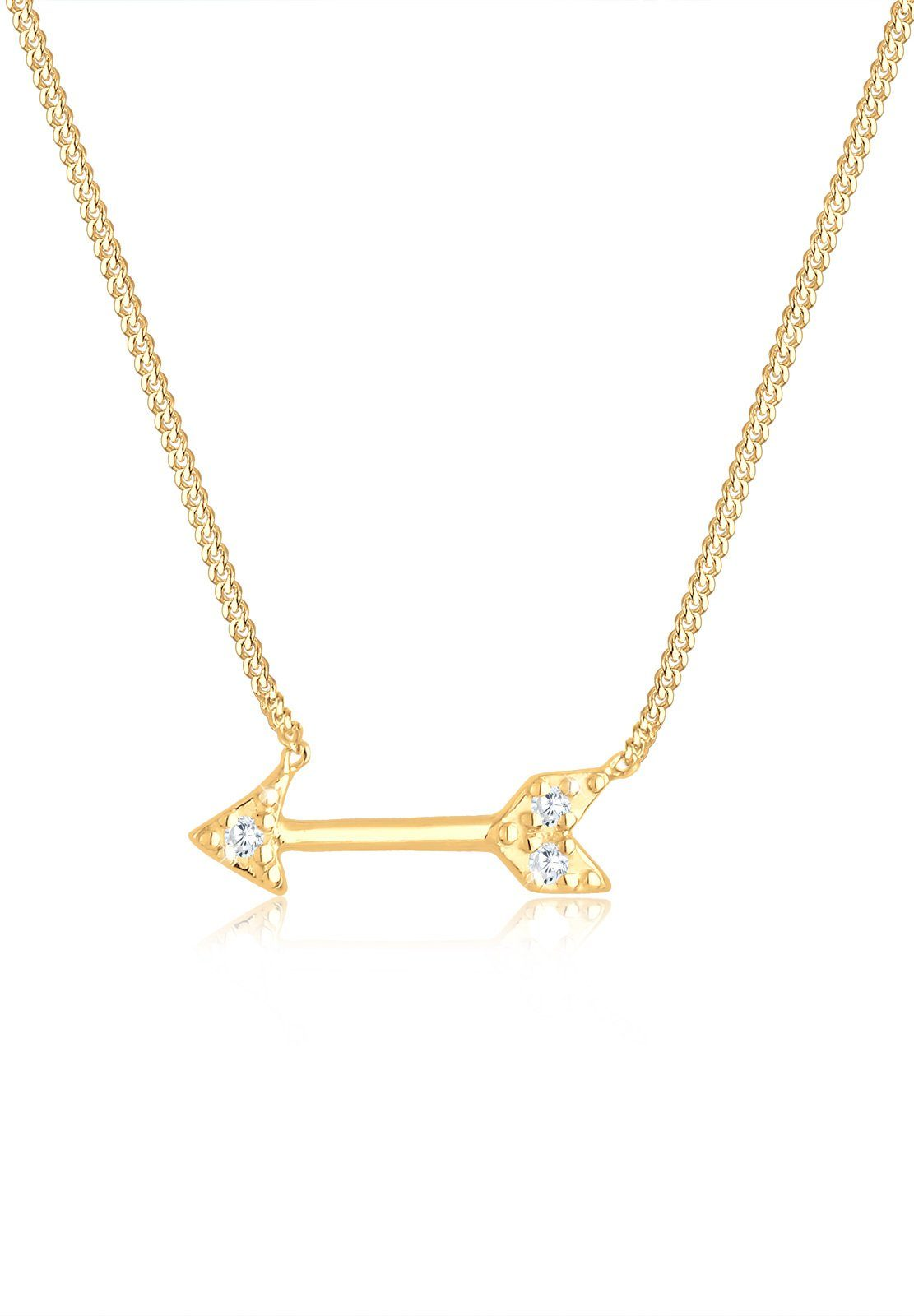 Elli Halskette »Pfeil Amor Zirkonia 925 Sterling Silber«
