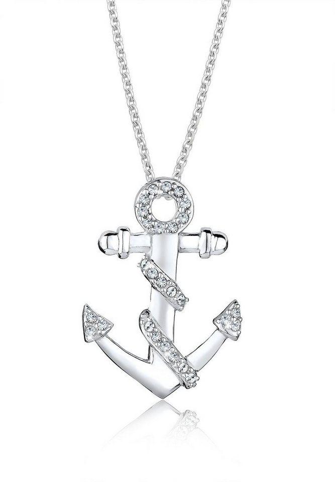Elli Halskette »Maritim Swarovski Kristalle® 925 Sterling Silber« in Weiß