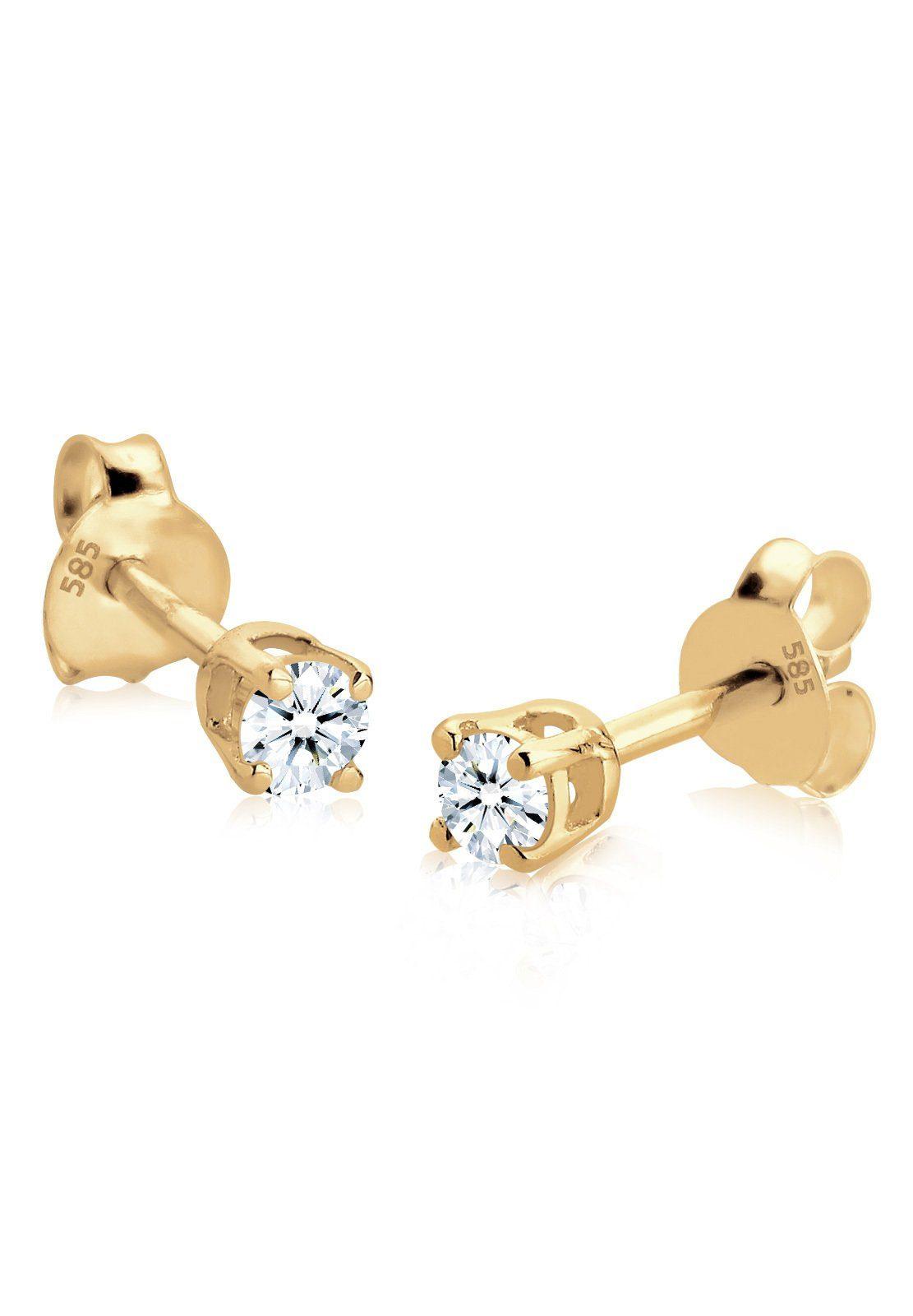 Diamore Ohrringe »Diamant 585 Gelbgold (0.20ct)«