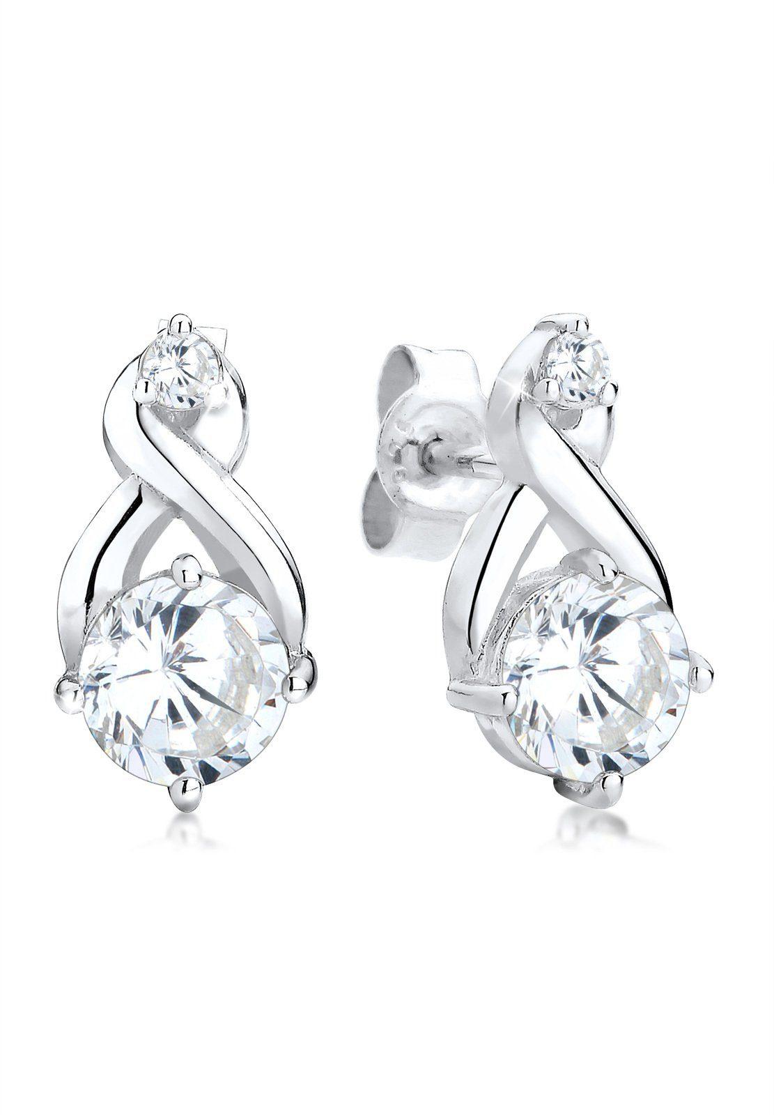 Elli Ohrringe »Infinity Zirkonia Glamour Elegant 925 Silber«