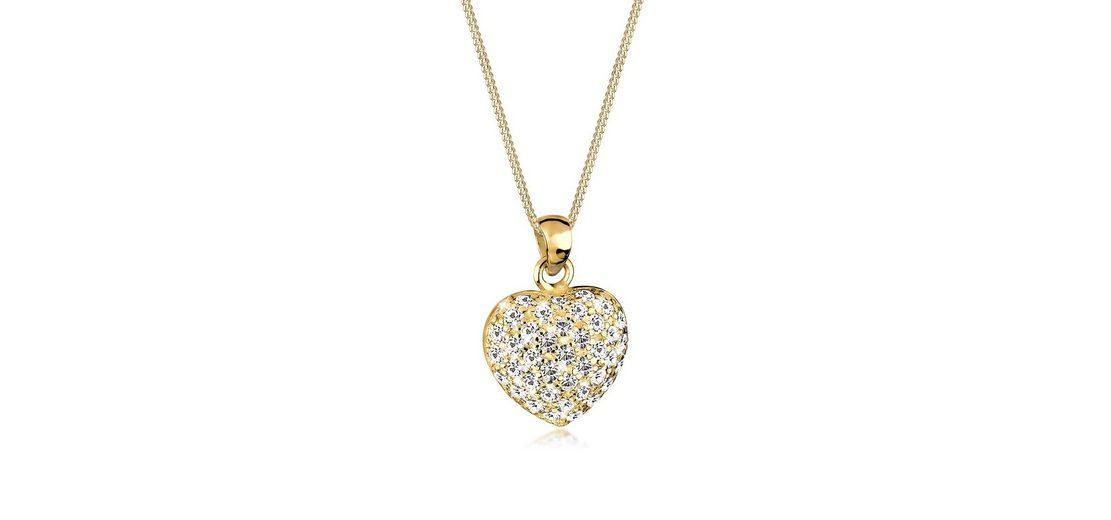 Goldhimmel Halskette »Herz Swarovski Kristalle 925 Sterling Silber«