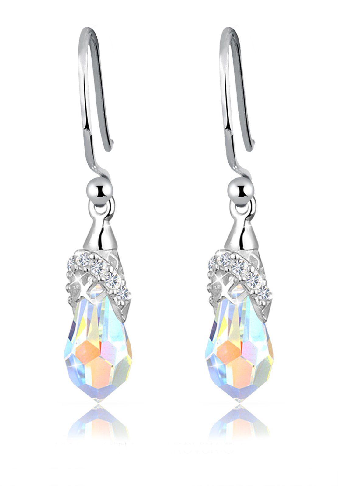Elli Ohrringe »Hänger Swarovski® Kristalle 925 Sterling Silber«