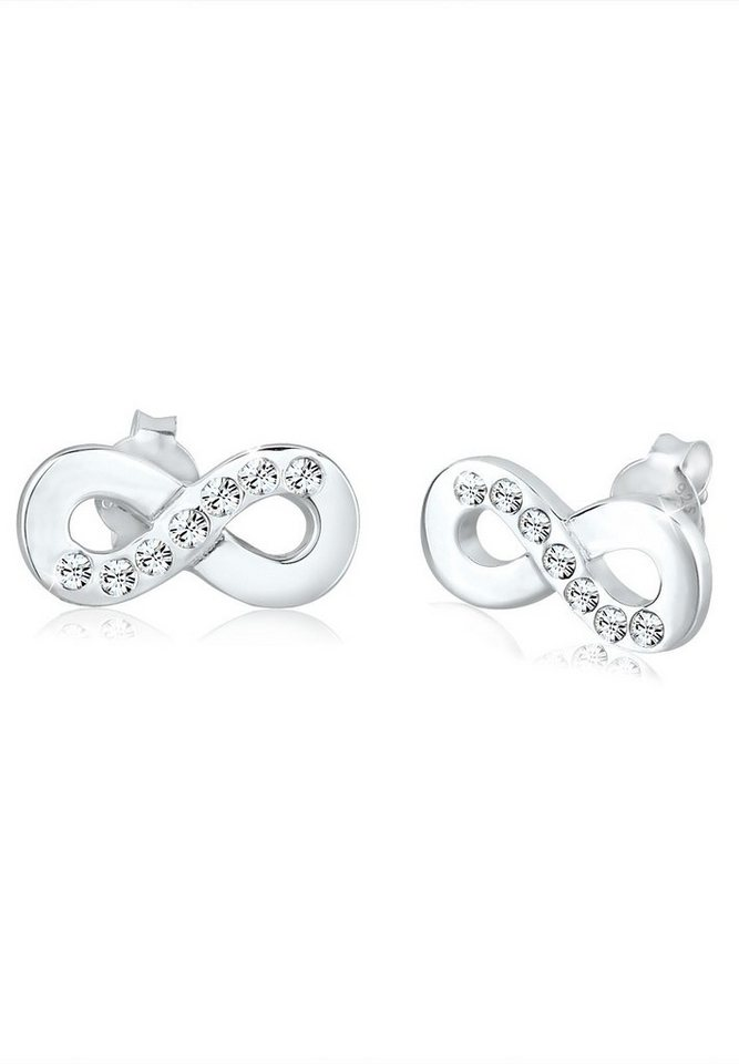 Elli Ohrringe »Infinity Symbol Swarovski® Kristalle 925 Silber« in Silber