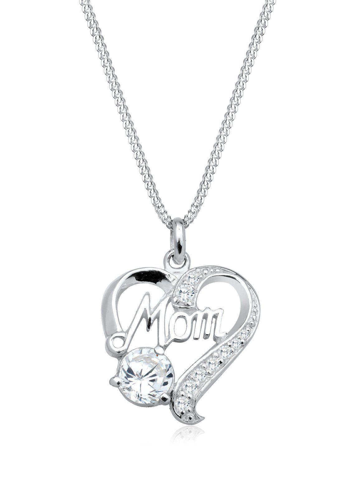 Elli Halskette »Herz Mom Muttertag Zirkonia 925 Sterling Silber«