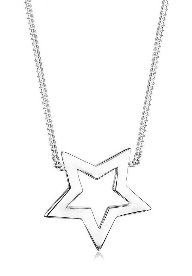 Elli Halskette »Stern 925 Sterling Silber« in Silber