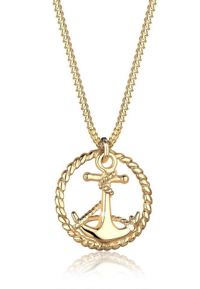 Goldhimmel Halskette »Anker Matrose 925 Sterling Silber« in Gold