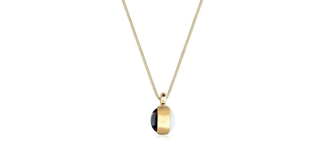 Goldhimmel Halskette »Edelstein Onyx Mondstein 925 Sterling Silber«