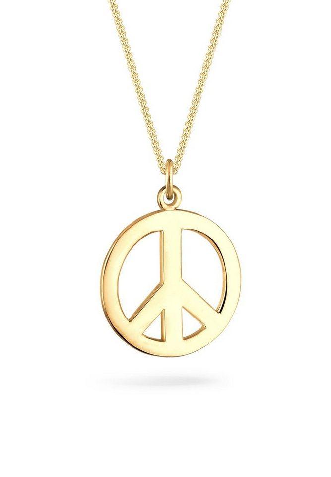 Goldhimmel Halskette »Boho Peace Zeichen 925 Sterling Silber« in Gold