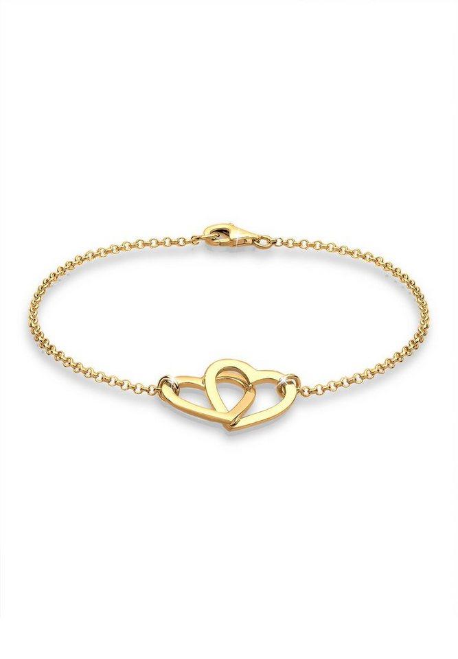 Goldhimmel Armband »Herzen 925 Sterling Silber vergoldet« in Gold