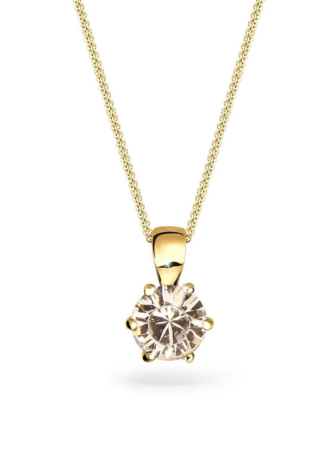 Goldhimmel Halskette »Basic Swarovski® Kristalle 925 Sterling Silber«