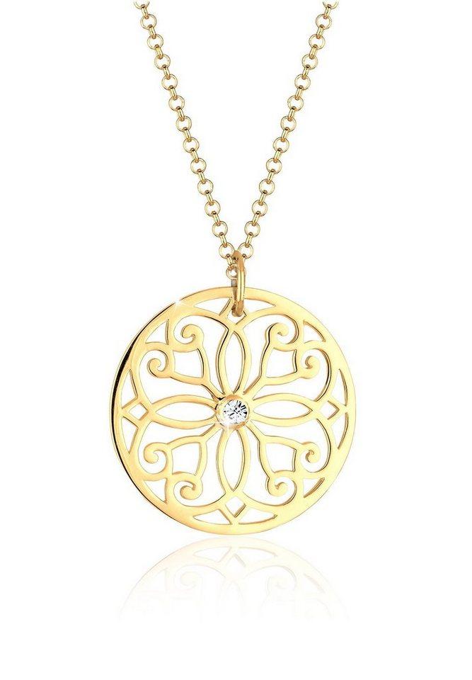 Goldhimmel Halskette »925er Sterling Silber Ornament Swarovski Kristalle« in Weiß