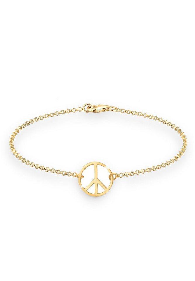 Goldhimmel Armband »Peace 925 Sterling Silber vergoldet« in Gold