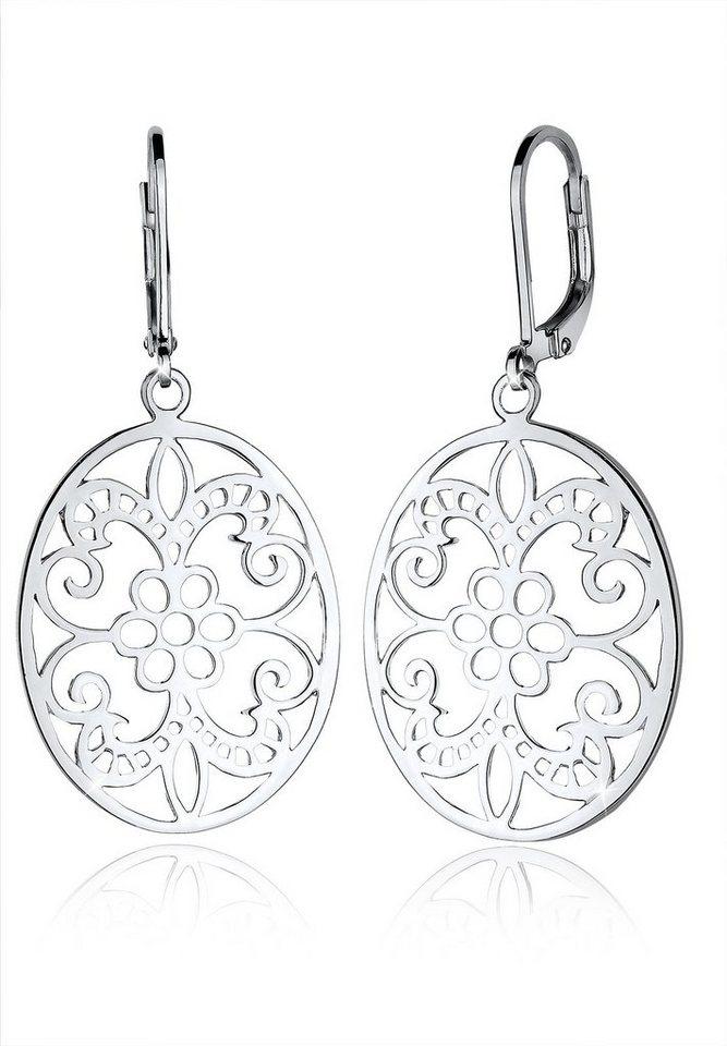 Elli Ohrringe »Ornament Floral Orientalisch 925 Silber« in Silber