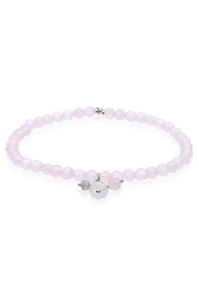 Elli Armband »Om Rosenquarz 925 Sterling Silber« in Rosa