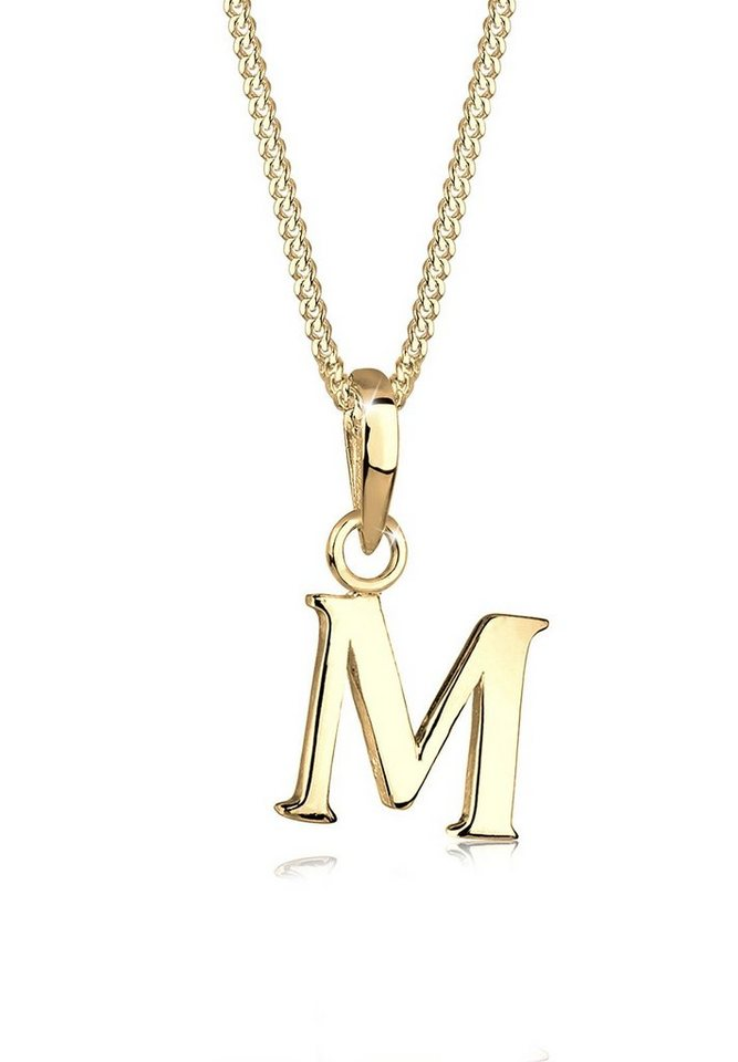 Goldhimmel Halskette »Buchstaben M 925 Sterling Silber« in Gold