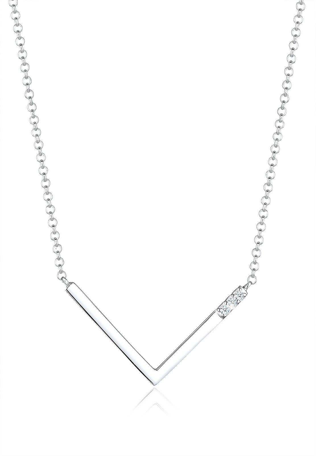 Diamore Halskette »V-Kette Diamant 925 Sterling Silber«