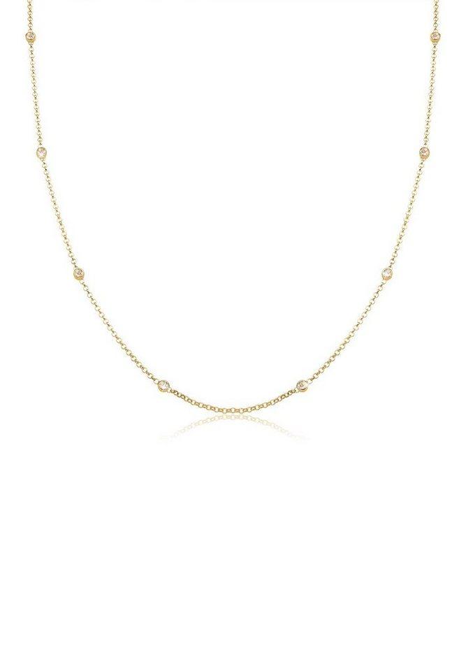 Elli Halskette »Zarte Swarovski® Kristalle 925 Sterling Silber« in Gold