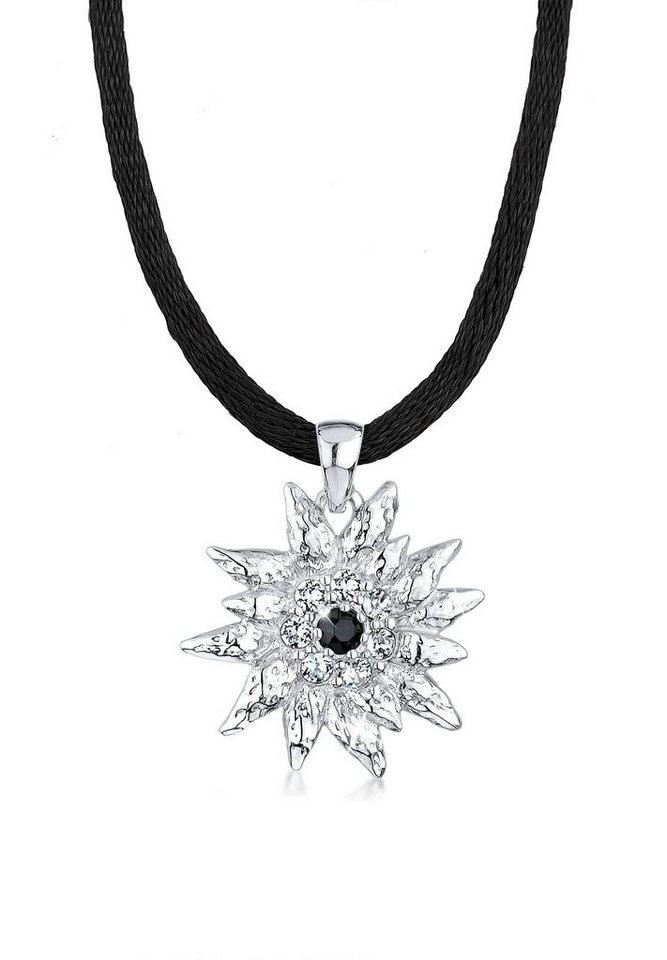 Elli Halskette »Edelweiss Swarovski Kristalle Sterling Silber« in Weiß