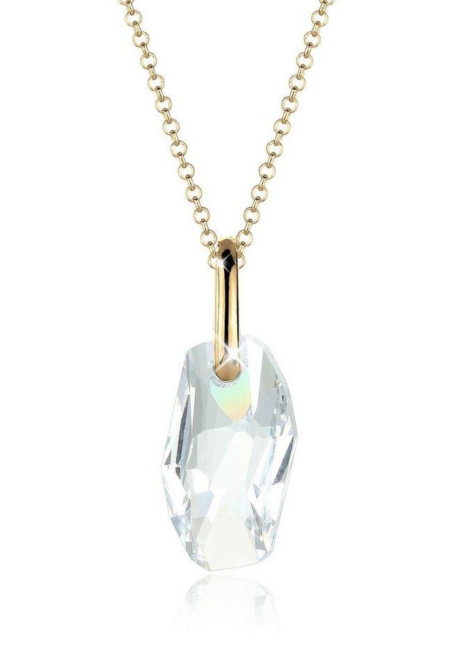 Goldhimmel Halskette »Swarovski Kristalle 925 Sterling Silber« in Weiß