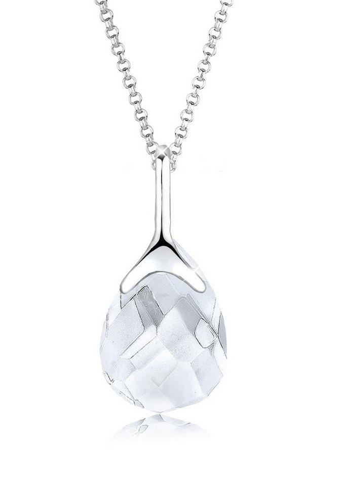 Elli Halskette »Bergkristall 925 Sterling Silber« in Weiß