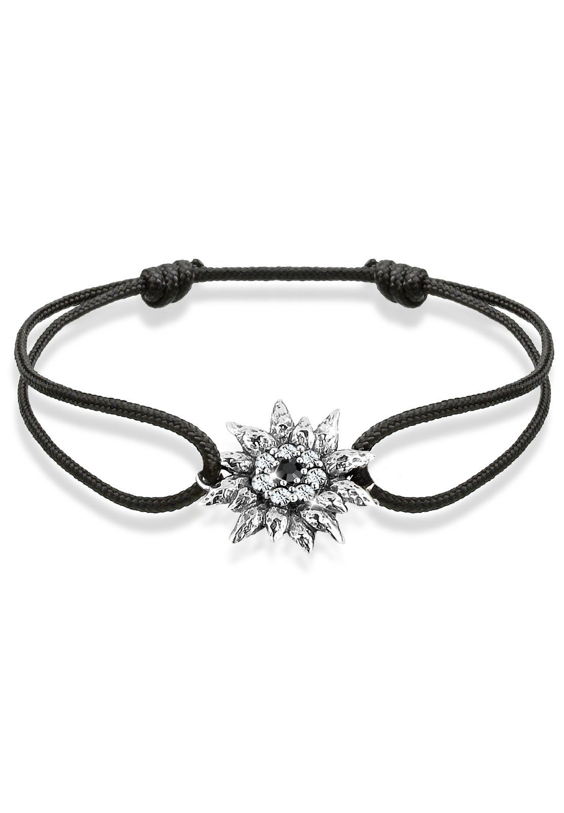 Elli Armband »Edelweiß Swarovski Kristalle 925 Sterling Silber«