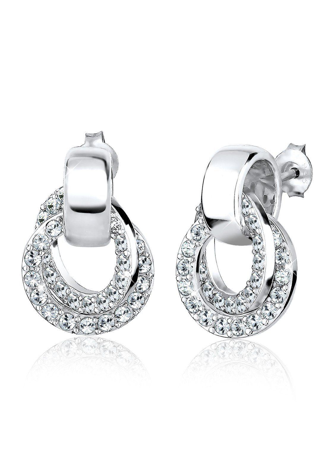 Elli Ohrringe »Kreis Swarovski® Kristalle Rund Glamour 925 Silber«