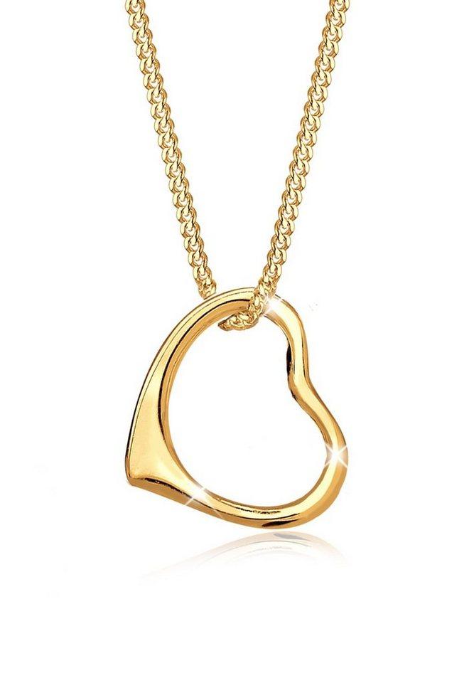 Elli Halskette »Herz 585 Gelbgold« in Gold