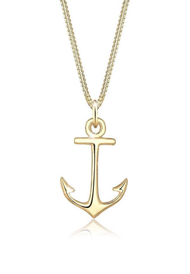 Elli Halskette »Anker Zart Dezent 925 Sterling Silber« in Gold