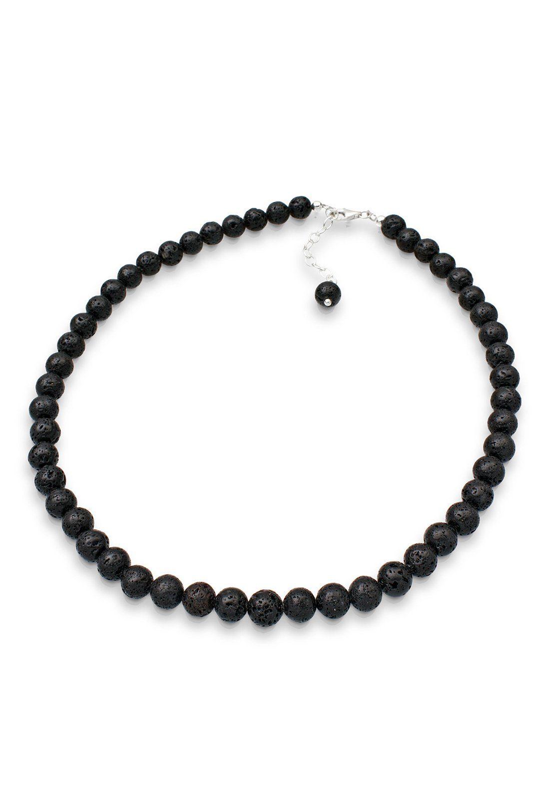 Elli Collierkettchen »Lava Perlen 925 Sterling Silber«