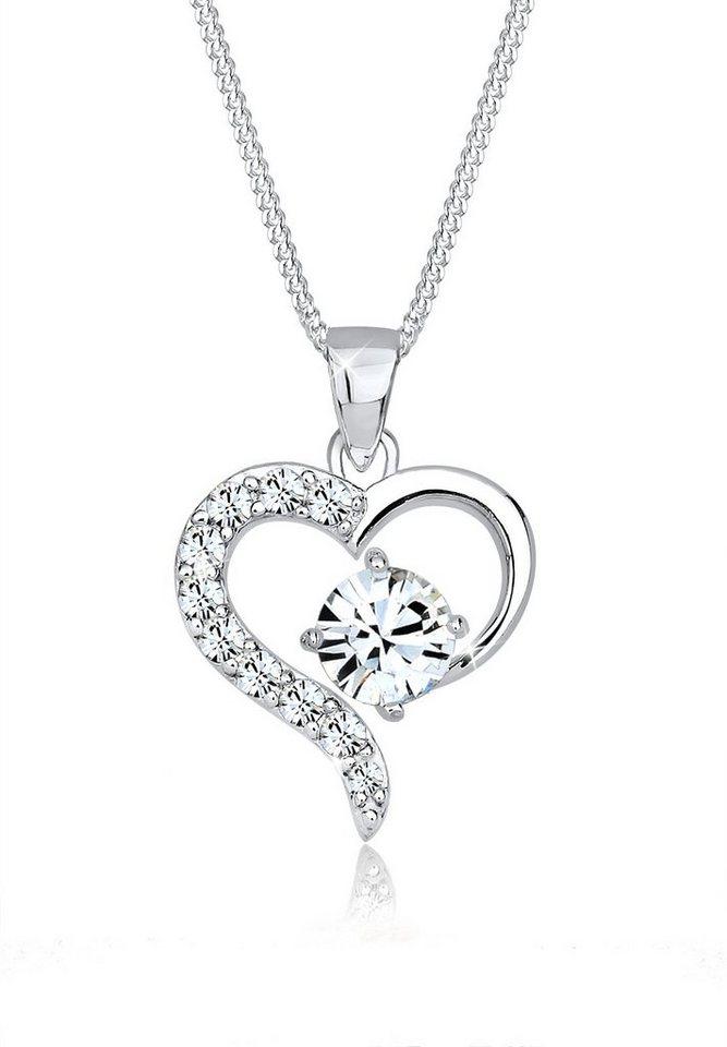 Elli Halskette »Romantik Swarovski® Kristalle 925 Sterling Silber« in Silber