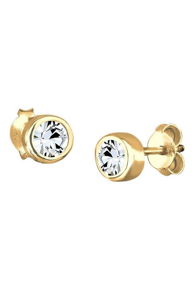 Goldhimmel Ohrringe »Swarovski Kristalle 925 Sterling Silber vergoldet« in Gold