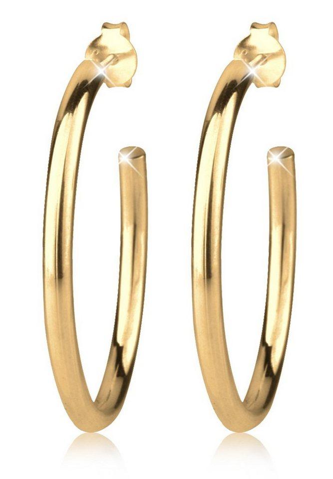 Goldhimmel Ohrringe »Creolen Basic 925 Silber« in Gold
