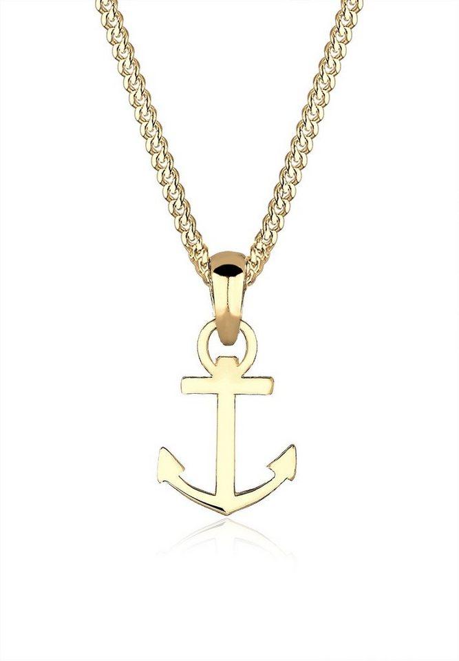 Elli Halskette »Anker Heimatsymbol 585 Gelbgold« in Gold