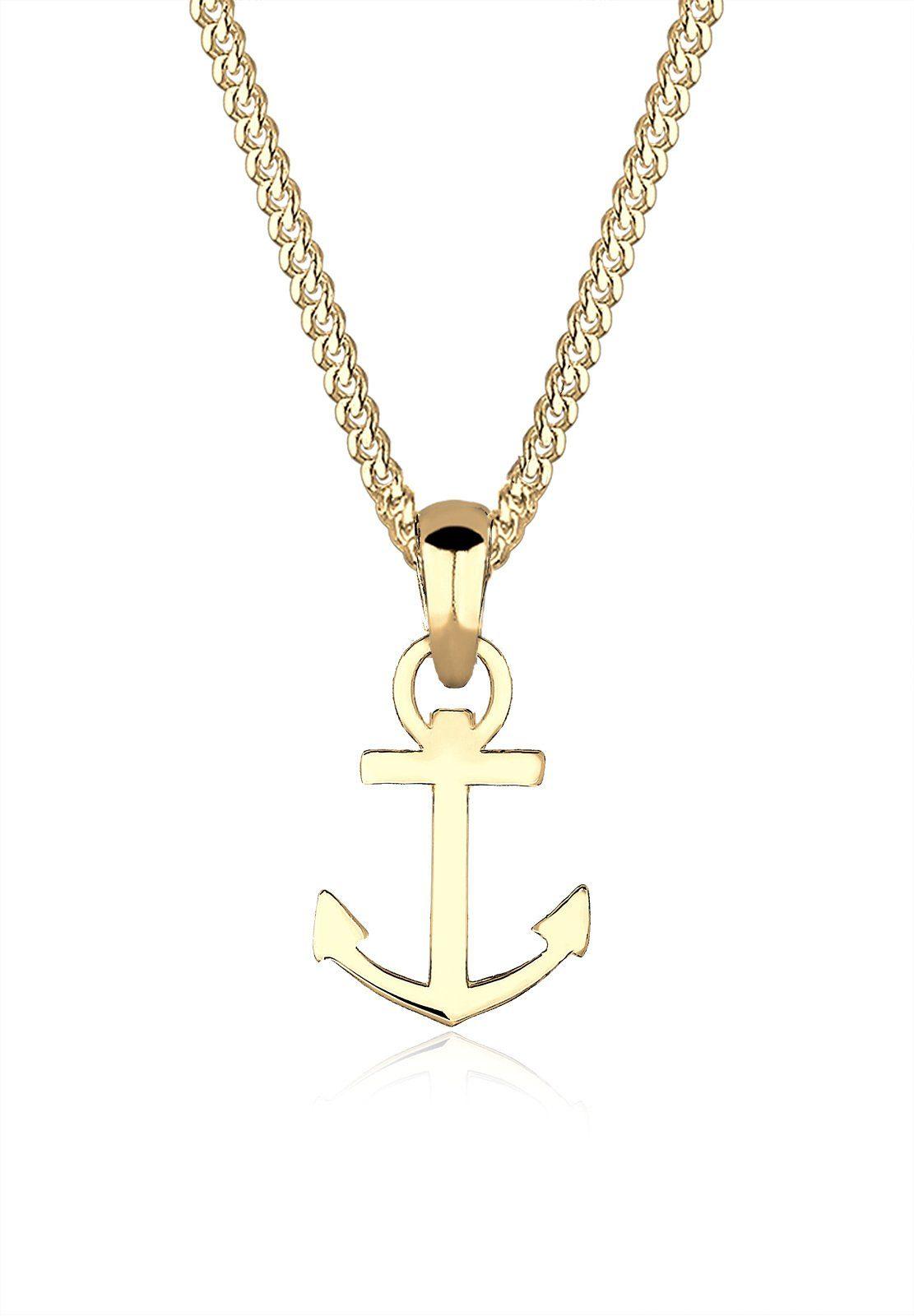 Elli Halskette »Anker Heimatsymbol 585 Gelbgold«