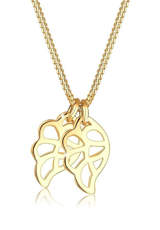 Goldhimmel Halskette »Flügel 925 Sterling Silber vergoldet« in Gold