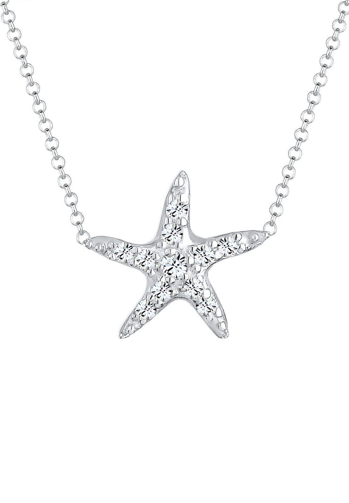 Elli Halskette »Seestern Swarovski® Kristalle 925 Sterling Silber«