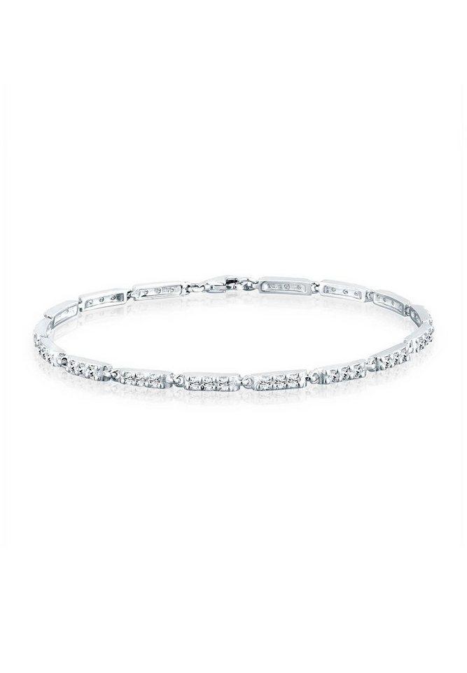 Elli Armband »Filigran Swarovski® Kristalle 925 Sterling Silber« in Silber