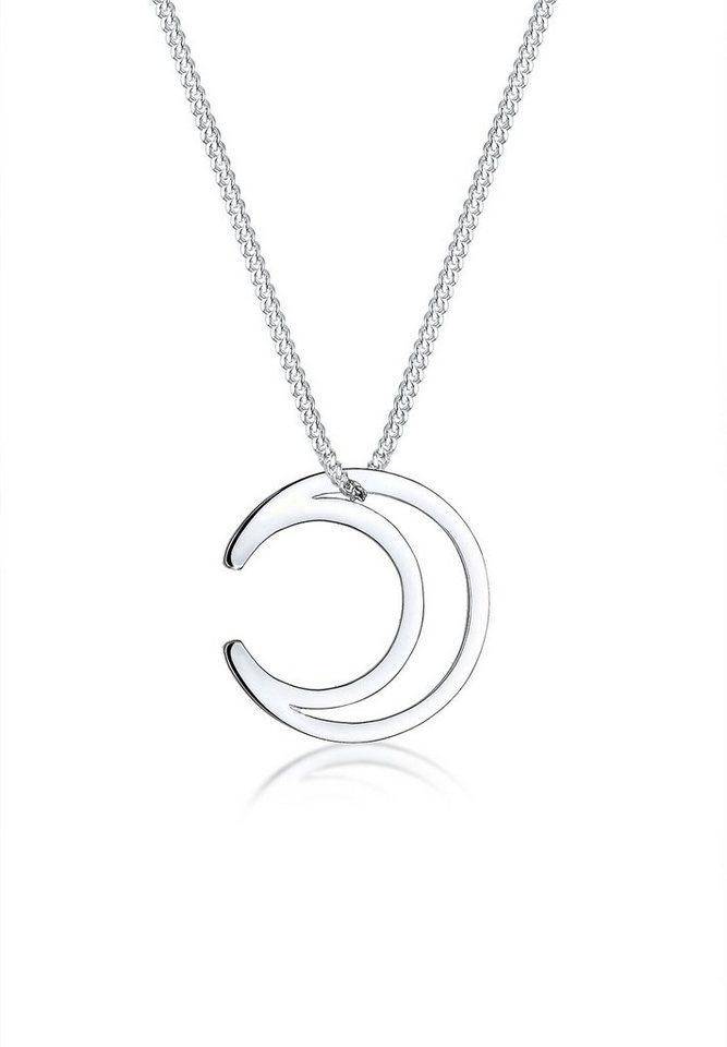 Elli Halskette »Halbmond Astro 925 Sterling Silber« in Silber