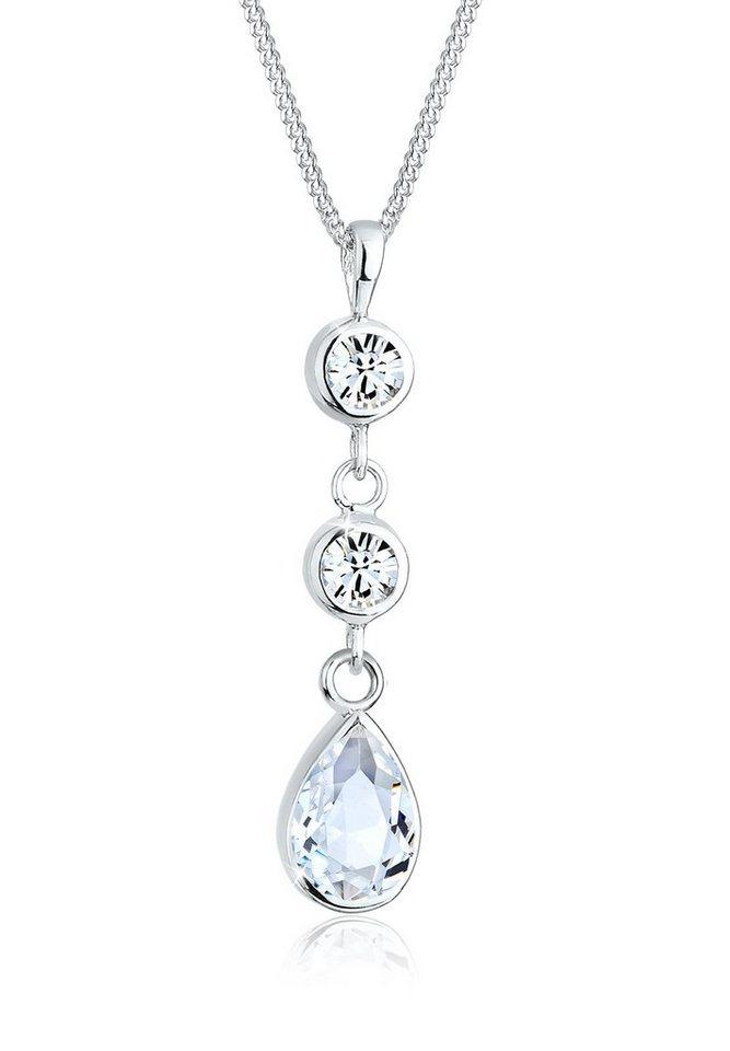 Elli Halskette »Tropfen Swarovski® Kristalle 925 Sterling Silber« in Weiß
