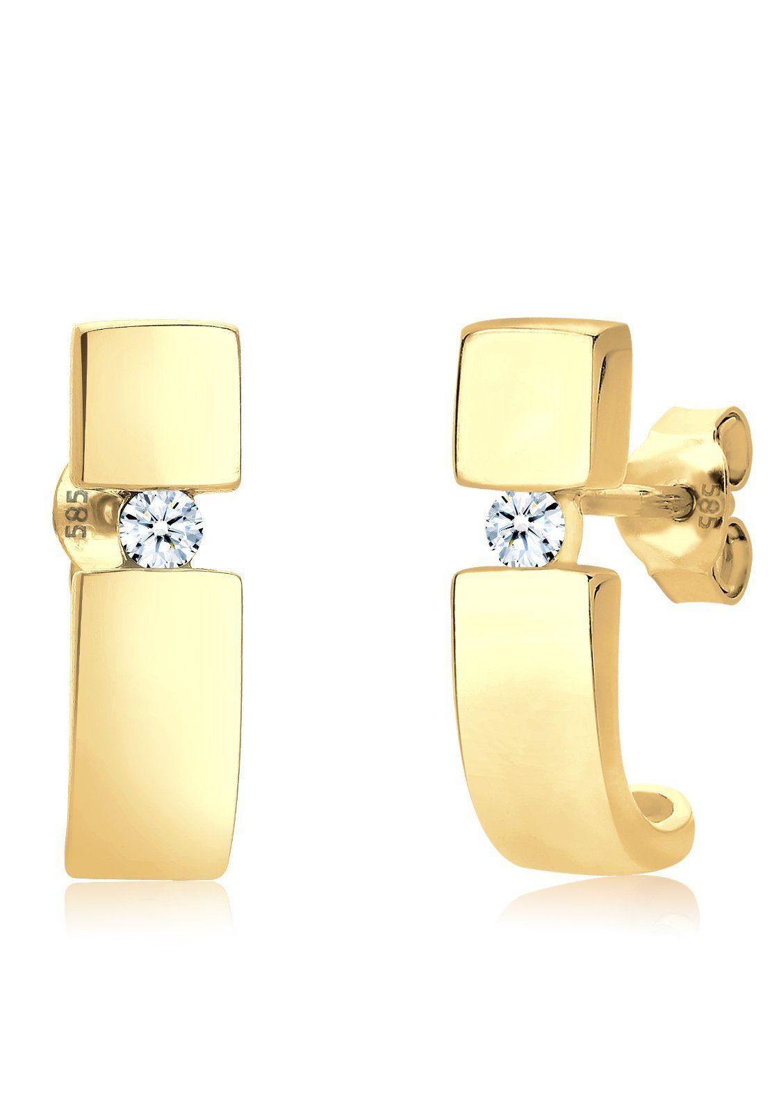 Diamore Ohrringe »Diamant Creole 585 Gelbgold«