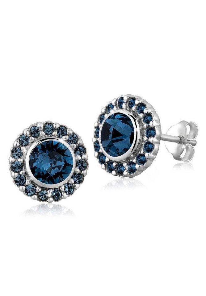 Elli Ohrringe »Swarovski® Kristalle Elegant 925 Silber« in Blau