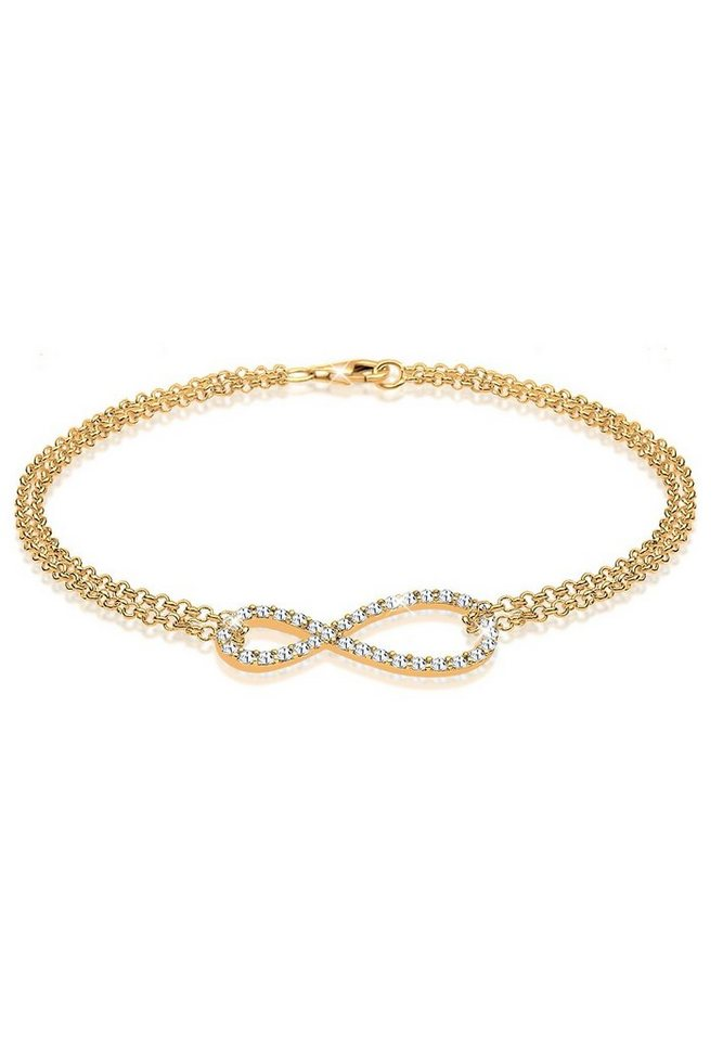 Goldhimmel Armband »Infinity Swarovski® Kristalle 925 Sterling Silber« in Gold