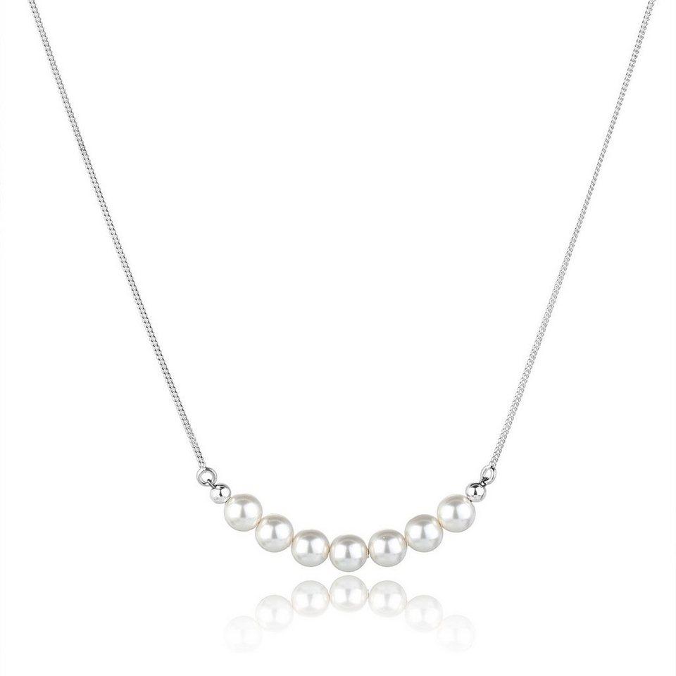 Elli Halskette »Perlen Swarovski Kristalle 925 Sterling Silber« in Weiß