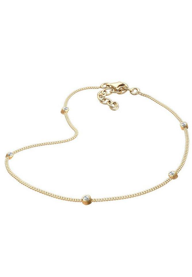 Goldhimmel Fußschmuck »Swarovski® Kristalle 925 Sterling Silber« in Gold